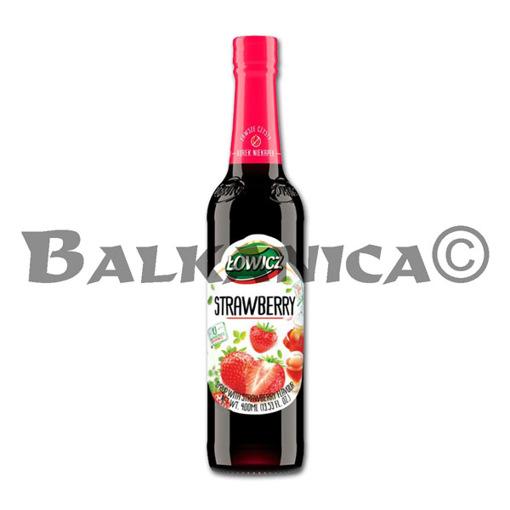 0.4 L JARABE DE FRESA LOWICZ