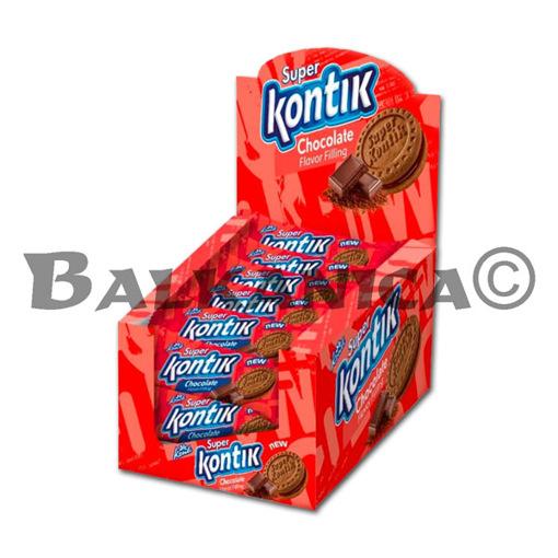 76 G GALLETAS SANDWICH CON CREMA DE CHOCOLATE SUPER KONTIK KONTI