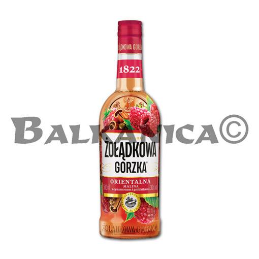 0.5 L VODKA FRAMBUESA CANELA Y CLAVOS DE OLOR ZOLADKOWA GORZKA 30%