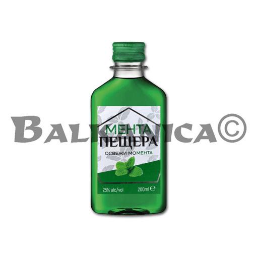 0.2 L LICOR DE MENTA PET PESHTERA 25%